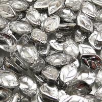 Leaf Beads (Листики) - Бусины чешские стеклянные 7х12мм, 27001 - хрусталь серебряный полупрозрачный (12шт)