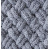 Пряжа Puffy (Пуффи), ALIZE (Турция), 9,2м, 100гр, 100% микрополиэстер, 428 - Средний серый