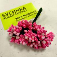 Бутоньерка - букетик тычинок (12 веточек) - ярко-розовый