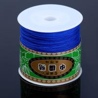 Шнур терилен шамбала 0,8 мм, КАТУШКА 90-100м, цвет ярко-синий, 1 шт.