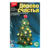 Набор для плетения из бисера и пайеток Дерево счастья Ёлочка, арт. Дер-006