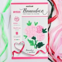 Набор вышивки лентами на канве Розовые розы   4045066