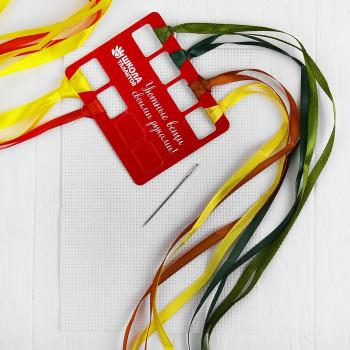 Набор вышивки лентами на канве Подсолнух   4045072