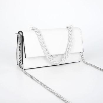 Цепочка для сумки (без карабинов), 15 × 21 мм, 120 см, цвет белый