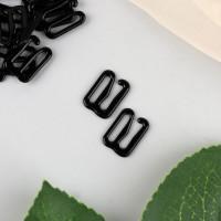 Крючок для бретелей, 10 мм, 1 шт, цвет чёрный