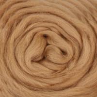 Шерсть для валяния и рукоделия Камтекс, 100% полутонкая шерсть, 50г, 005 - Бежевый