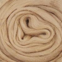 Шерсть для валяния и рукоделия Камтекс, 100% полутонкая шерсть, 50г, 006 - Бежевый светлый