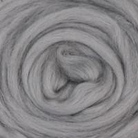 Шерсть для валяния и рукоделия Камтекс, 100% полутонкая шерсть, 50г, 168 - Св. серый