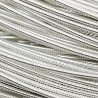 Канитель жесткая 1,25 мм -  серебро, уп. 5 гр (~0,8 м)