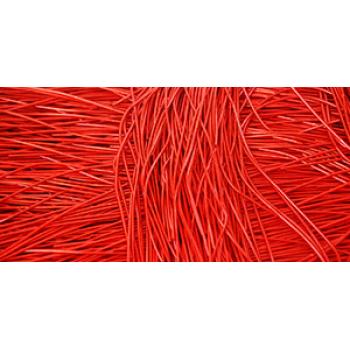 Канитель Гладкая 1 мм - арт. 50 красная , уп. 5 гр (~2,7м)