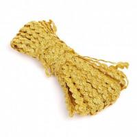 Декоративная лента ЗИГ-ЗАГ (вьюнчик) 5мм - Золото, 1м