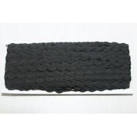 Декоративная лента ЗИГ-ЗАГ (вьюнчик) 5мм - Черный, 1м