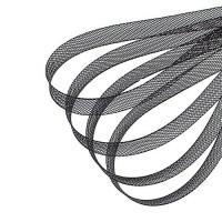 Регилин плоский 10мм черный, 1м