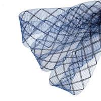 Регилин плоский мягкий Клетка, 45мм,1м, цвет т.синий в синюю клетку