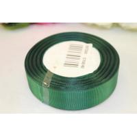 Лента репсовая 25мм однотонная - темно-зеленый, 1м