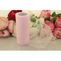 Фатин 15 см, св. розовый, 1м