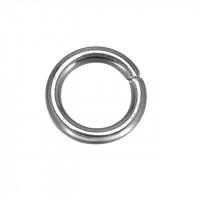 Колечки соединительные металлические одинарные 5 мм, под серебро, уп. 50 шт