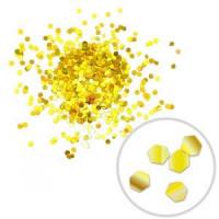 Глиттер (блестки) лазерный - 1мм, золотой, 100гр