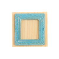 Штамп Рамка с кружевом (ШТ-293), резина, 4х6см