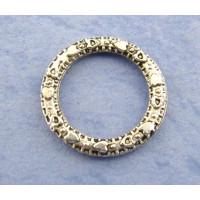 Кольцо цельное с орнаментом, 14мм, античное серебро, 1шт