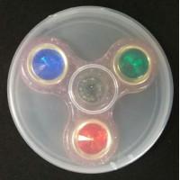 Спиннер для рук, металл+пластик, с кристаллами и блестками (антистресс)