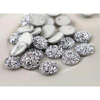 Стразовые серединки из смолы G5 12мм, 1шт (серебро)