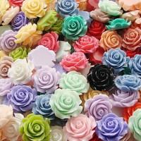 Декоративные Розочки из смолы 16мм, 1шт (210217)