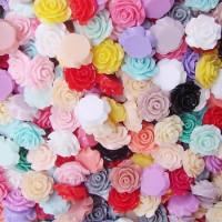 Декоративные Розочки из смолы 15мм, 1шт (198)