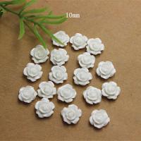 Декоративные Розочки из смолы 10мм, 1шт (белые)