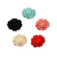 Декоративные цветы из смолы 18х14мм, 1шт