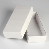 Коробка сборная, белая, 24х11,5х4,5 см