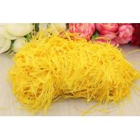 Соломка бумажная, 100 гр (желтый)