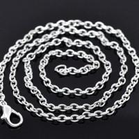 Цепочка с застежкой, серебро, звено 3,5х2,5 мм