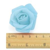Роза бутон 4см, фоамиран, голубой, 1шт