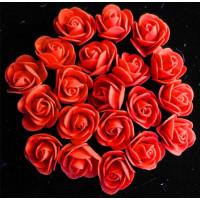 Роза бутон 3см прямая, фоамиран, красный, 1шт