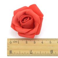 Роза бутон 4см, фоамиран, светло-красный, 1шт