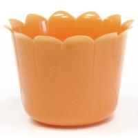 Кашпо Ромашка Д8 8х5,5см оранжевый
