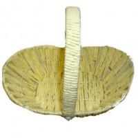 Корзина плетеная верёвкой овал, 30х20см, высота 10 см (с ручкой 23 см)