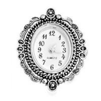 Основа для часов, 34х26мм, под серебро, 1 шт