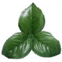 Чашелистик трехконечный 10см зелёный с пласт. основанием (3 листика размером 5 см), 1шт