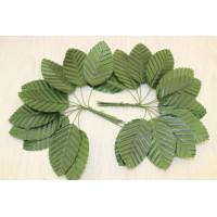 Листья тканевые на проволоке 50х30 мм, уп. букетик 10 шт.