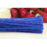 Синельная проволока металлик 6мм, 30см, синий, 1шт