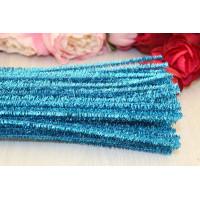 Синельная проволока металлик 6мм, 30см, голубой, 1шт