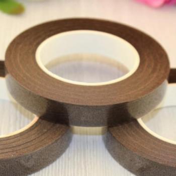 Флористическая тейп-лента, цвет - шоколадно-коричневый, 13мм х 27м