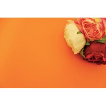 Фоамиран Китай лист 50х50см, оранжевый