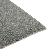 Глиттерный фоамиран, толщина 2мм, 20х30 см - темное серебро, 1 лист