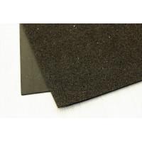 Глиттерный фоамиран, толщина 2мм, 20х30 см - черный, 1 лист