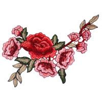 Воротничок кружевной с цветочным рисунком 21х33см, 1шт