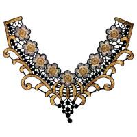 Воротничок кружевной с цветочным рисунком 27х32см, 1шт