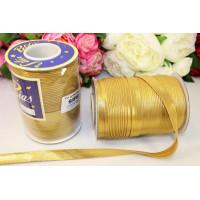 Косая бейка 14-15мм 1м, золото